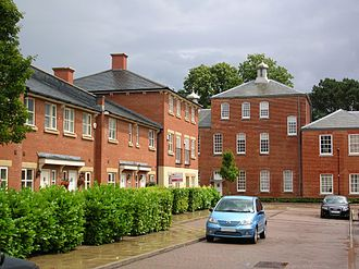 Knowle Hospital - New and old buildings forming Knowle Village