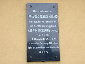 Gmina Jemielnica - Memorial to Johannes Nucius