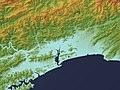 Kochi Plain Relief Map, SRTM-1.jpg