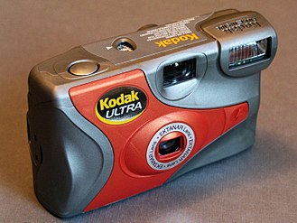 Disposable camera - Kodak Ultra disposable camera with inbuilt flash