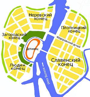 Kontsy - Map of the Kontsy