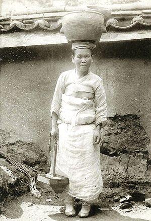 Ko Un - Korean peasant woman