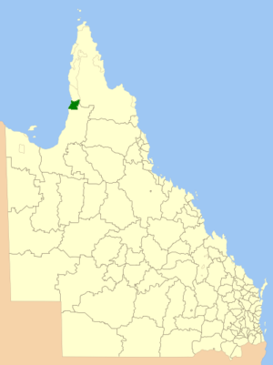 Aboriginal Shire of Kowanyama - Location within Queensland
