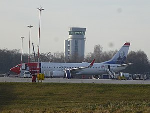 John Paul II International Airport Kraków–Balice - Air traffic control tower at Kraków Airport
