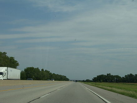 A view from the I-35 portion of the Turnpike, between mileposts 29 and 30. Kta view.jpg