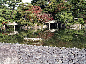 Kyoto imperial palace garden in Kyoto, Japan