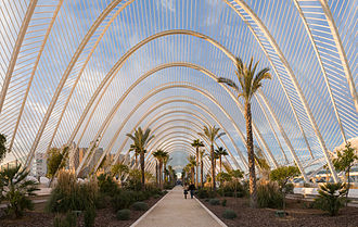 L'Umbracle - Looking along the interior of the structure (2007)