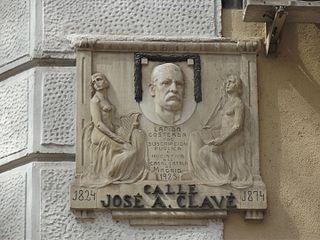 lápida de José Anselmo Clavé