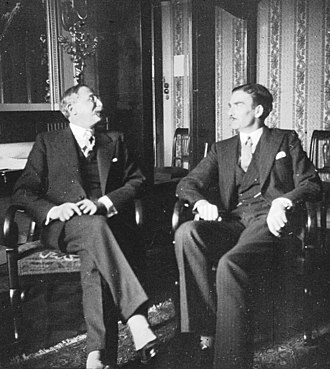 Anthony Eden - Eden with French Prime Minister Léon Blum in Geneva in 1936