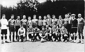 Riga Vanderer - LFLS Kaunas and Vanderer (Wanderer) Rīga football (soccer) players, approximately in 1929.