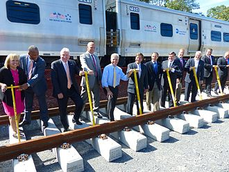 Main Line (Long Island Rail Road) - Groundbreaking for Phase 1