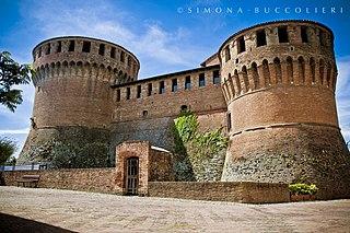 building in Dozza, Italy