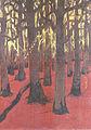 Lacombe-Forêt au sol rouge-Quimper.JPG