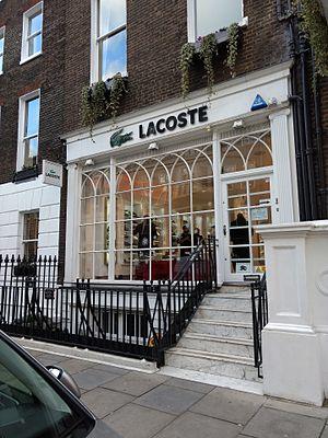 Duke Street, Marylebone - The Lacoste shop in Duke Street