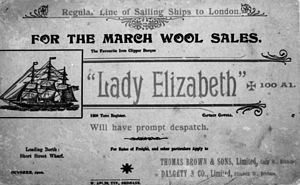 Lady Elizabeth (1879) - An ad placed in October 1900 for Lady Elizabeth.