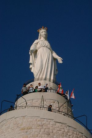 Patronage of the Blessed Virgin Mary - Statue of Our Lady of Lebanon or Notre Dame du Liban.