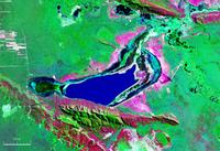 Mapa satelital de la Laguna Concepción ubicada en el centro del departamento