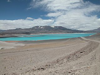 Falso Azufre complex volcano at the border of Argentina and Chile