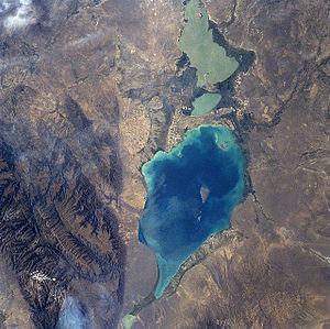 Lake Alakol - Lake Alakol; north at top right