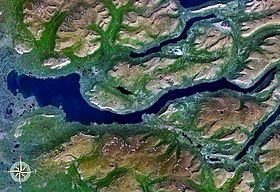 Vue satellite du lac Keta.