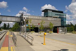 Commuter train station in Lakewood, Washington