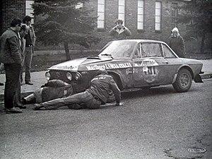 Press-on-Regardless Rally - Harry Källström's Lancia Fulvia 1.6 Coupé HF during the 1972 rally.