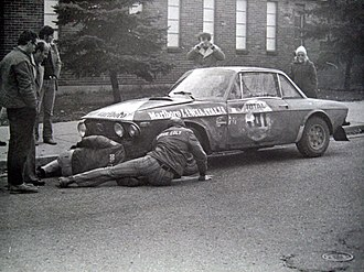 International Championship for Manufacturers - Harry Källström's Lancia Fulvia 1.6 Coupé HF at the 1972 Press-on-Regardless Rally.