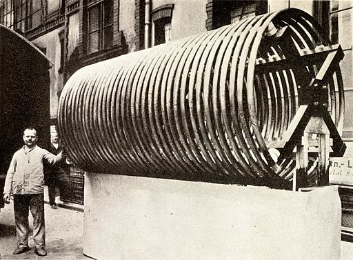 Large antenna loading coil