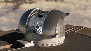 Rendering (computer graphics) - Rendering of the European Extremely Large Telescope.