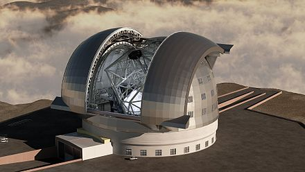 Rendering of the European Extremely Large Telescope. Latest Rendering of the E-ELT.jpg