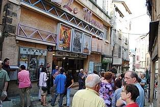Theater on a crowded, narrow street