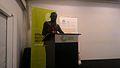Le président de Wikimedia Côte d'Ivoire lors de son discours.jpg