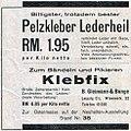 Lederkleber Lederheil, zum Bändeln und Pikieren Klebfix, B. Gleimann & Bunge, Leipzig.jpg