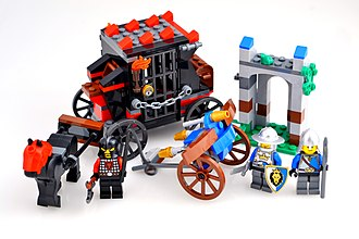 "Lego - A Lego set released in 2013, ""Gold Getaway"", based on the Lego Castle theme"