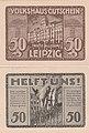 Leipzig - Volkshaus-Gutschein, 50Pf. Farbvariation (3).jpg