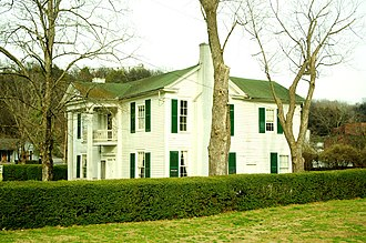 Jack Daniel's - The replica home of Lem Motlow, proprietor of Jack Daniel's from 1911 to 1947; the original home was demolished in 2005 and rebuilt to the likeness of Lem Motlow's house at Jack Daniel's Distillery in Lynchburg