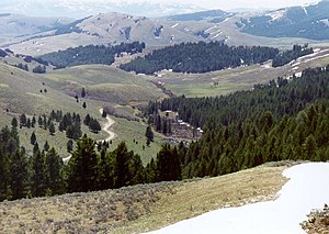 Photograph of the view from Lemhi Pass, eastwa...
