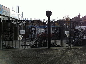 Headingley Cricket Ground - The Leonard Hutton Gates at the Headingley Stadium.