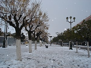 Batna, Algeria - Snow in Batna
