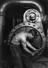 Lewis Wickes Hine - Power House Mechanic - Google Art Project (black and white).jpg