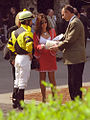 "Lexington Kentucky - Keeneland Race Track ""Jockey Robby Albarado & Pretty Women"" (2145203320) (2).jpg"