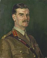 Painting of Nye in uniform