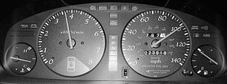 Dashboard - Dashboard instruments displaying various car and engine conditions