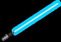 Lightsaber, silver hilt, blue blade.png