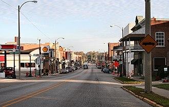Ligonier, Indiana - Downtown Ligonier.