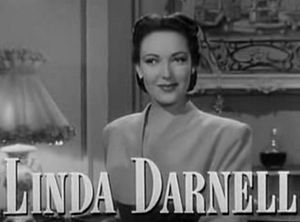 A Letter to Three Wives - Image: Linda Darnell in A Letter to Three Wives trailer