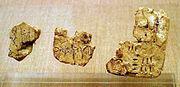 Σπαράγματα πινακίδων Γραμμικής Α από το Δωμάτιο Δ18Α του προϊστορικού οικισμού του Ακρωτηρίου της Θήρας