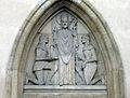 Liptovský Mikuláš relief nad gotickým portálom kostola.jpg