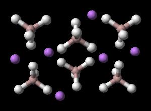 Lithium aluminium hydride - Image: Lithium aluminium hydride layer 3D balls
