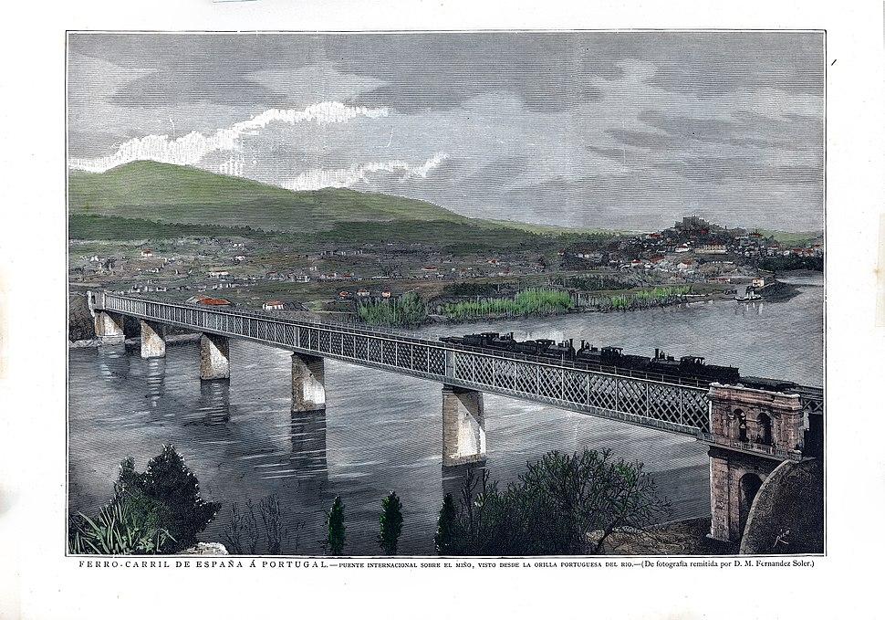 Litrografia da Ponte Vella Internacional do Miño